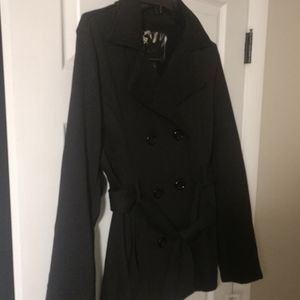 Light weight belted peacoat